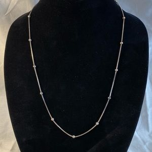 Sterling chain with Sterling ball bead accents.
